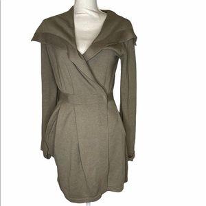 Comptoir des cotonniers wrap sweater dress jacket